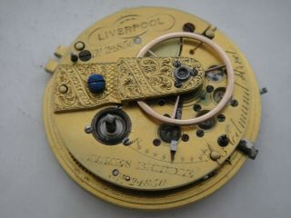 James Brindle Liverpool Lever Fusee Movement 43mm Wide Dial Sn24850 Ca 1820?