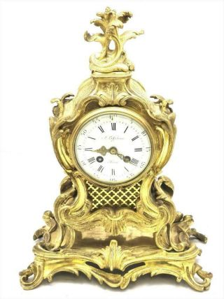 Antique Mantle Clock Lovely French 1900