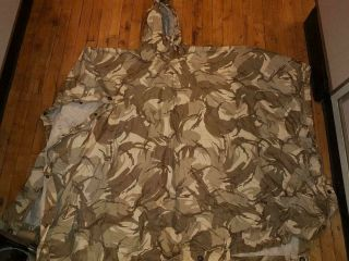 Iraqi Military Desert Storm Poncho Doucer,  As - Is Captured