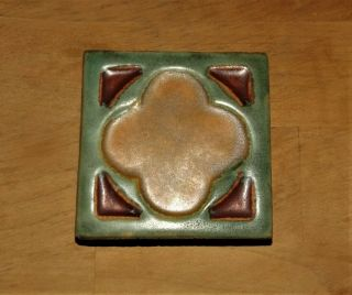 Antique Flint Faience Art Pottery Michigan Vtg Arts & Crafts Mission Rare Tile