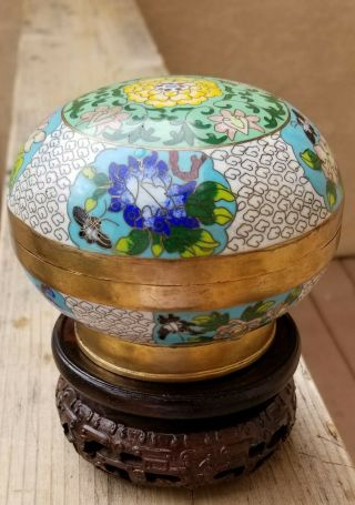 A Fine Chinese Antique Cloisonne Enamel Over Brass Covered Bowl,