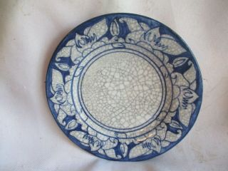 """Early Dedham Pottery Arts & Crafts Era 6 """" Magnolia Plate By Maude:"""