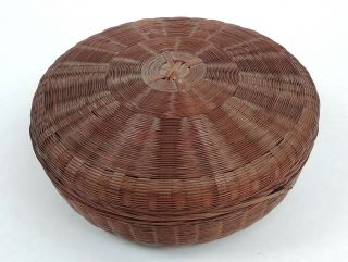 Rare Large Antique Chinese Sewing Basket Betty - Lou Collectio 108