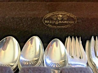 60 PC.  REED & BARTON STERLING SILVER 18th EIGHTEENTH CENTURY SET 12 Place Set 2