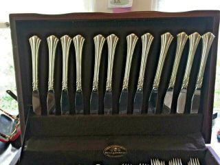 60 PC.  REED & BARTON STERLING SILVER 18th EIGHTEENTH CENTURY SET 12 Place Set 6