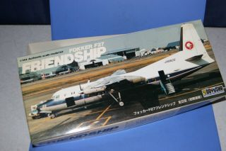 "Doyusha Fokker F - 27 Friendship With Motor And ""in Assembly"" 1/144 Japan"