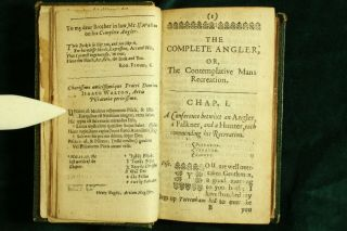 Izaak Walton THE COMPLEAT ANGLER 1655 Engraved Plates Complete RARE 2ND ED NR 4