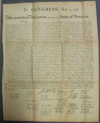 United States Declaration Of Independence 1850 Lepelle Antique Plate