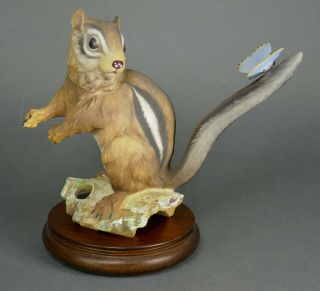 Fine Vtg German Bisque Porcelain Hutschenreuther G.  Granget Squirrel Sculpture