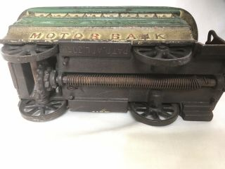 "Antique Cast Iron Mechanical Bank – Alfred C.  Rex 1889 – ""Motor Bank"" 8"
