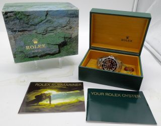 Vintage 1996 Rolex 14060 Submariner Mens Wrist Watch Box