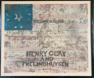 Antique Vintage Pre Civil War Campaign American Flag