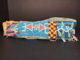 Antique Native American Cradleboard and Necklace Kiowa early 20th Century 3
