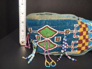 Antique Native American Cradleboard and Necklace Kiowa early 20th Century 8