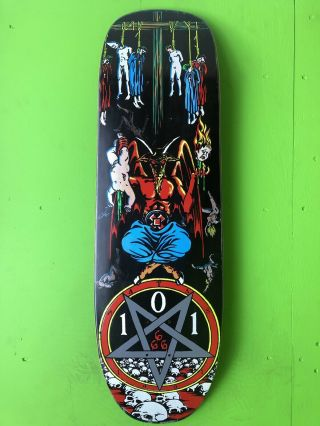 Nos Vintage 1991 Natas Kaupas Devil Worship Skateboard Deck 101 From Marc Mckee