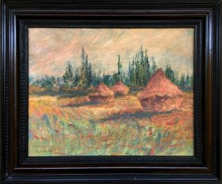 Claude Monet Signed Antique Oil / Canvas Painting French?