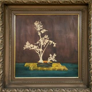 Sanyu Signed Antique Oil / Wood Panel Painting French?
