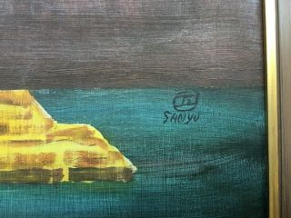 Sanyu signed antique oil / wood panel painting French? 3