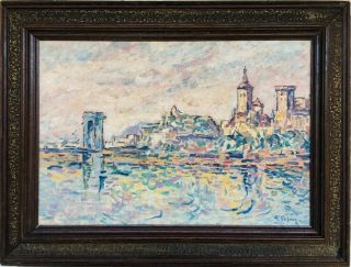 P.  Signac Signed Antique Oil / Canvas Painting French?