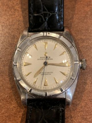 Vintage Rolex Oyster Perpetual Chronometer 5015 Bubbleback 1940s