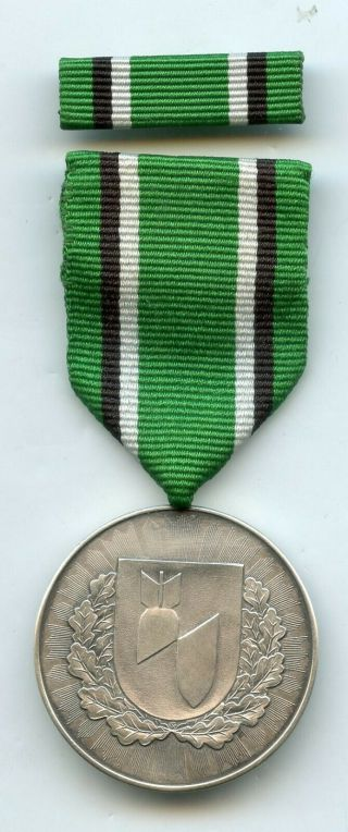 Latvia Republic Post 1991 Medal For Destruction Of 300 Explosive Object Rare