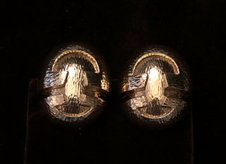 Signed David Webb Vintage 1980s 18k Large Yellow Gold Earrings Nr