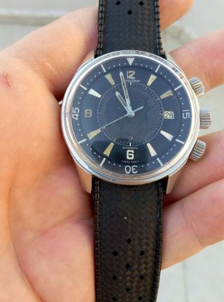 EXTRIMLY RARE 1968 JAEGER LECOULTRE POLARIS E859 MEMOVOX 42MM Men ' s Watch 3