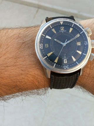 EXTRIMLY RARE 1968 JAEGER LECOULTRE POLARIS E859 MEMOVOX 42MM Men ' s Watch 5