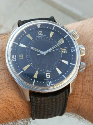 EXTRIMLY RARE 1968 JAEGER LECOULTRE POLARIS E859 MEMOVOX 42MM Men ' s Watch 6