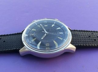 EXTRIMLY RARE 1968 JAEGER LECOULTRE POLARIS E859 MEMOVOX 42MM Men ' s Watch 7