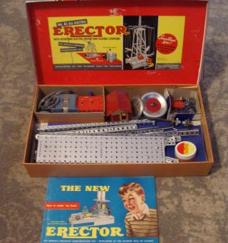 1958 Erector Set 6 - 1/2 Gilbert Electric Flying Airplanes M2950