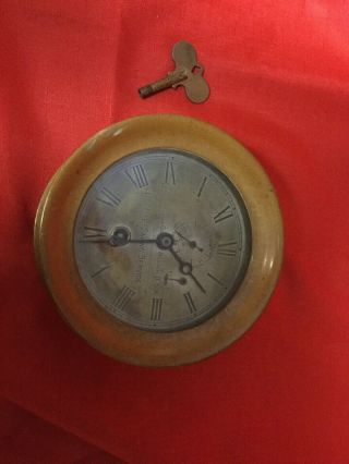 Antique Chelsea Ship Clock U.  S.  Life - Savings Service Circ.  1909