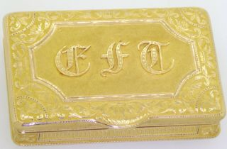 ca.  1820 Simon - Achille Leger Paris antique heavy 18K gold snuff box,  68 grams 2