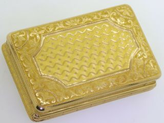 ca.  1820 Simon - Achille Leger Paris antique heavy 18K gold snuff box,  68 grams 4
