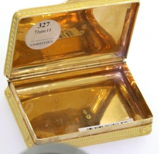 ca.  1820 Simon - Achille Leger Paris antique heavy 18K gold snuff box,  68 grams 5