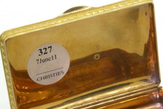 ca.  1820 Simon - Achille Leger Paris antique heavy 18K gold snuff box,  68 grams 7