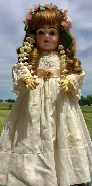 French Antique Doll Bru Jne R 8 Doll Antique Clothes And Shoes Apx 19 Inch 6