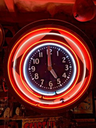 Antique/vintage Neon Game Clock.  Barnett?