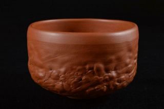 G8360: Japanese Tokoname - Ware Brown Pottery Tea Bowl Green Tea Tool Tea Ceremony