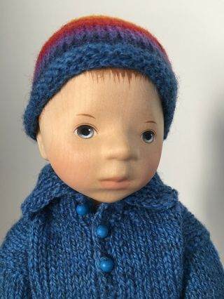RELISTED: Handcrafted wooden doll by Elisabeth Pongratz 2