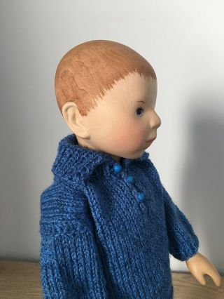 RELISTED: Handcrafted wooden doll by Elisabeth Pongratz 4