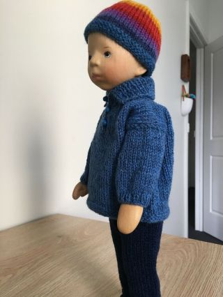 RELISTED: Handcrafted wooden doll by Elisabeth Pongratz 6