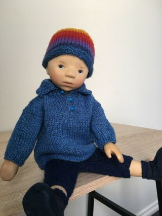 RELISTED: Handcrafted wooden doll by Elisabeth Pongratz 7