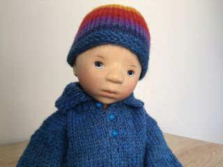 RELISTED: Handcrafted wooden doll by Elisabeth Pongratz 8