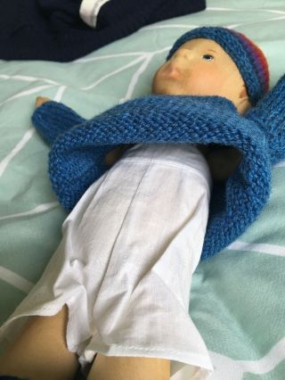 RELISTED: Handcrafted wooden doll by Elisabeth Pongratz 9