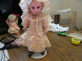 "Rare 13 "" Lovely Antique French Doll Depose Tete Jumeau 4 Sgdg Small Crack Tohead"