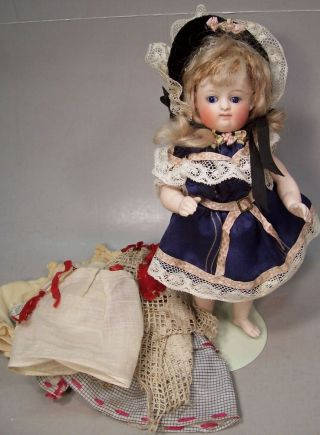 "Gorgeous 7 Inch Kestner Antique All Bisque German Doll "" Barefoot """