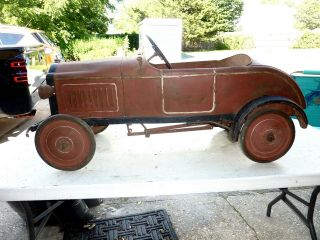 Vintage Antique Sidway Topliff Reo Pedal Car - Barn Find Wow
