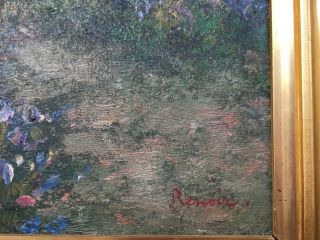 Renoir signed antique oil / canvas painting French? 3
