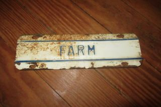 Vintage Farm Use Cast License Plate Tag Topper Kansas Embossed Feed Truck Grain